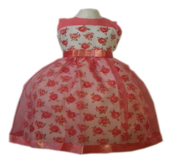Vestido Niña Fiesta Elegante Economico Moda Flores Bonito