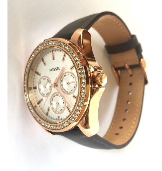 Relógio Fossil Feminino Com Brilhantes, Muito Lindo!!!