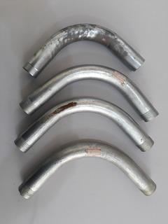 Lote De Curva Galvanizada 3/4 De Aluminio