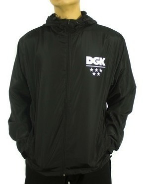 Jaqueta Corta-vento Windbreaker Dgk Shadow - Black