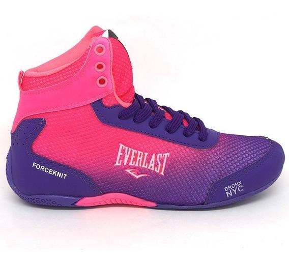 Tênis Feminino Everlast Forceknit Rosa Treino Fitness Box
