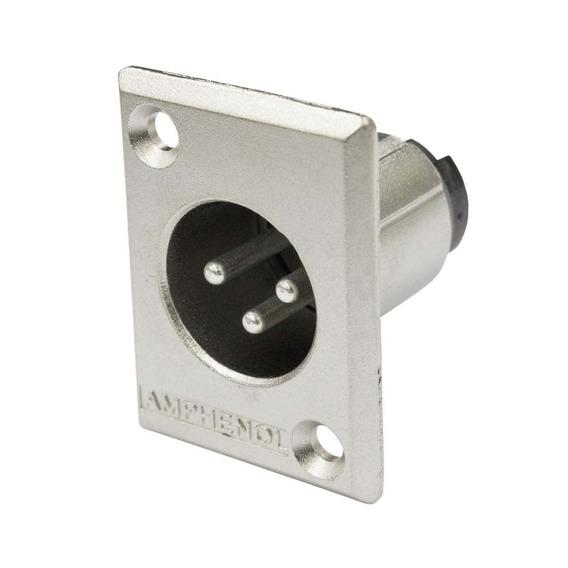 Conector Xlr Macho Painel - Ac 3 Mmp Amphenol