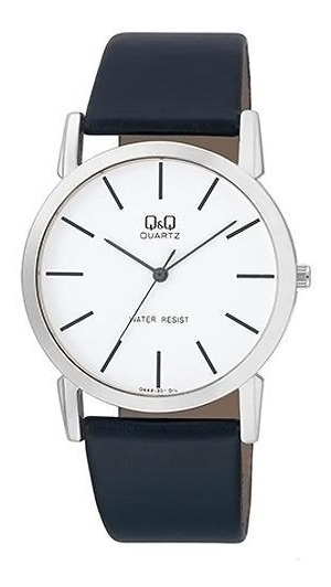 Relógio Analógico Q&q Q662j301y Masculino Pulseira De Couro