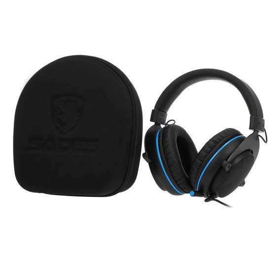 Sades 3.5mm Wired Gaming Headphones Cancelamento De Ruído
