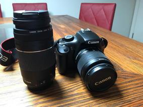 Canon T3 Com Lentes 18-55 E 75-300, Mochila E Tripés - Usada