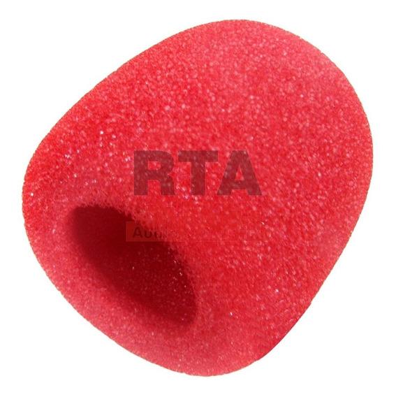 Espuma Colorida Vermelha Protetora Para Globo De Microfone