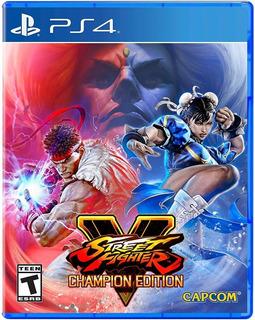 Street Fighter V Champion Edition Nuevo Para Ps4