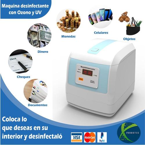 Maquina De Desinfección (ozono + Uv) Objetos, Billetes, Etc