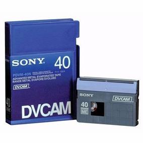 Fita Dv-cam Sony 40 Dvcam Pdvm-40n Nova