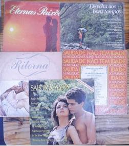 Lote De 5 Lps Com Coletâneas De Músicas De Amor E Saudade