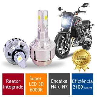 Lampada Moto Super Led 3d Bonneville Bobber (h4 H7) 6000k