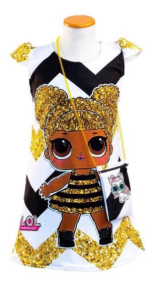 Vestido Lol Surprise. Queen Bee Con Carterita De Regalo