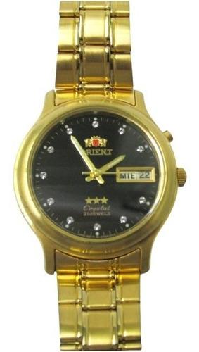Relógio Orient Masculino Médio Automático Dourado Fem0301yf9
