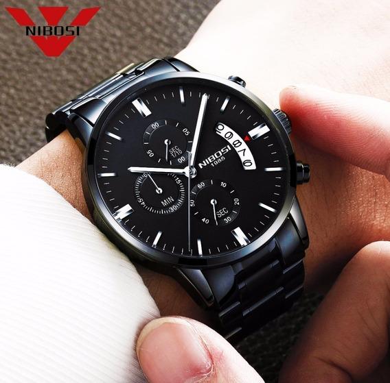 Relógio Nibosi Original De Luxo A Prova D