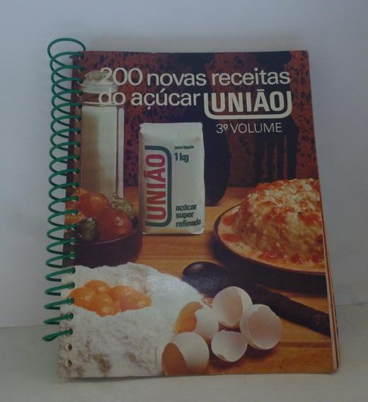 Livro De Receitas União 200 Novas Receitas 3º Volume
