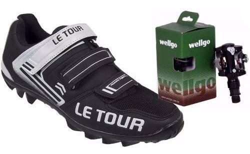 Sapatilha Mtb Le Tour Tipo M065 Bike + Pedal Wellgo M919