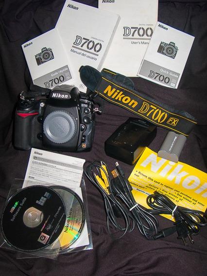 Câmera Foto Nikon D700 Full-frame Com Acessórios Originais