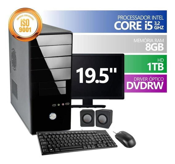 Computador Premium Intel Core I5 8gb Hd 1tb Dvdrw 19.5