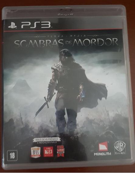 Jogo Ps3 -sombras De Mordor