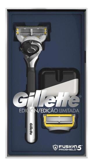 Aparelho Gillette Proshield Edição Especial +2cargas+suporte