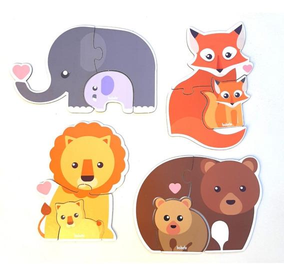 Brinquedo Educativo Quebra-cabeça Infantil Animais Filhotes