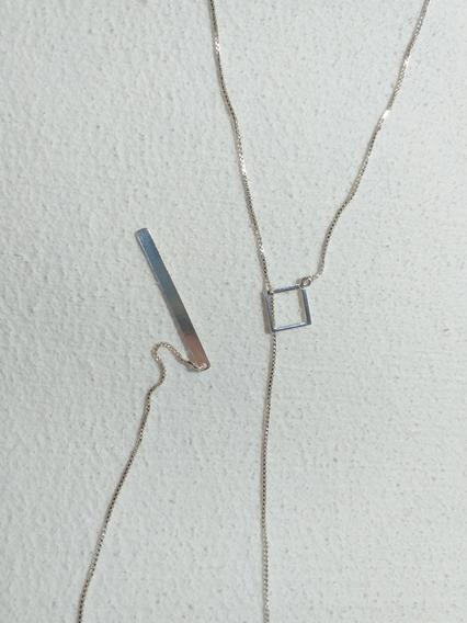 Colar De Prata Corrente Veneziana Gravata 61cm - Novo