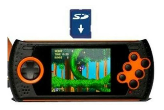 Cartão Sd 4gb + De 1400 Patchs Mega Drive Portátil Md Play