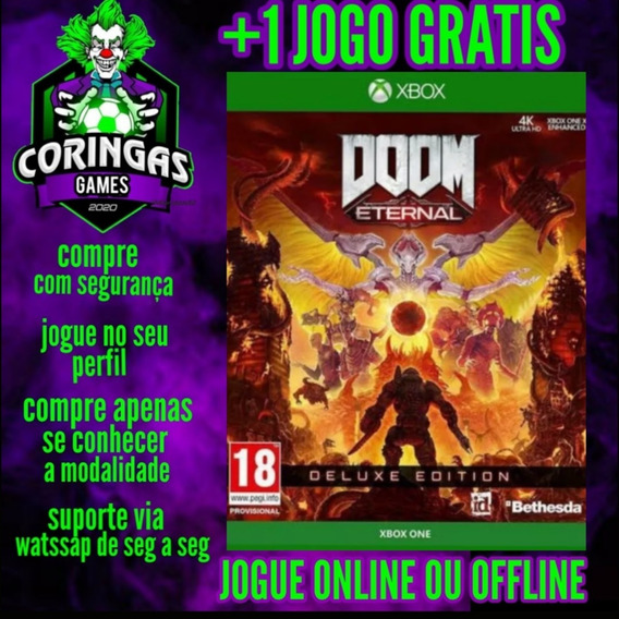 Doom Eternal Deluxe - Xbox One - Mídia Digital + Brinde