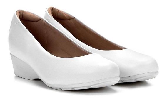Sapato Feminino Enfermagem Conforto Modare 7014200 Branco
