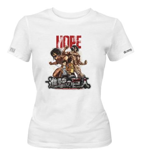 Camiseta Attack On Titan Anime Idk