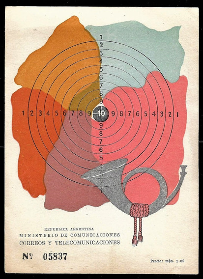 Argentina1949 Tarjeta 1º Día Emisión Campeonato Mundial Tiro