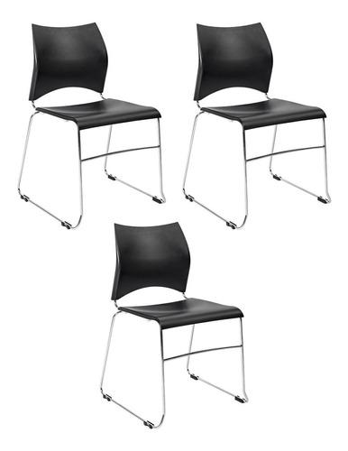 Kit 3 Cadeiras New Contínua   Mercado Livre