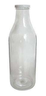 Botella Retro Acrilico Leche Lisa 1 Litro