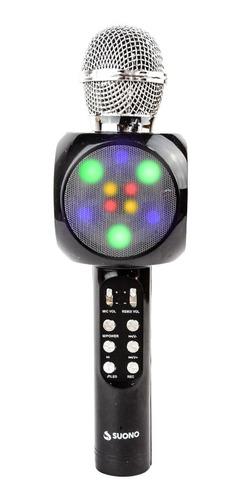 Microfono Karaoke Bluetooth Parlante Efectos Usb Recargable Portatil Potente Fiestas Cumpleaños