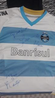 Camiseta Do Grêmio 50 Anos Autografada