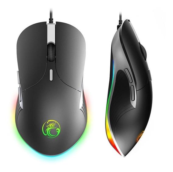Mouse Gamer Imice X6 3200 Dpi Ajustável   Luz Rgb Free Fire