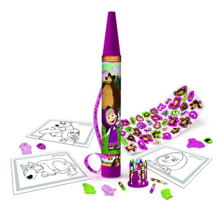 Set De Arte Masha Y El Oso Mega Crayon