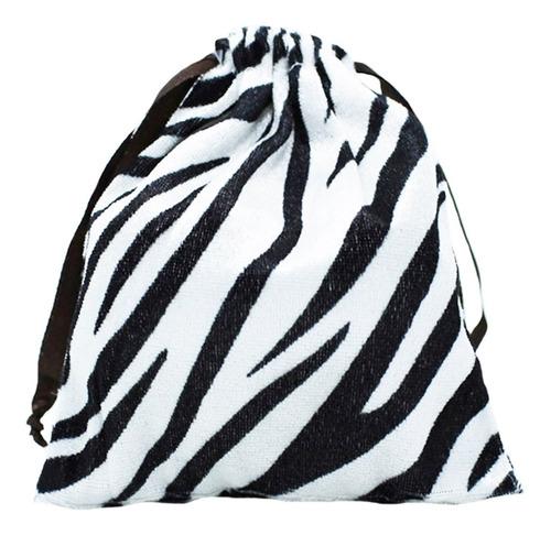 Saquinho De Veludo Para Bijuterias Animal Print Zebra P
