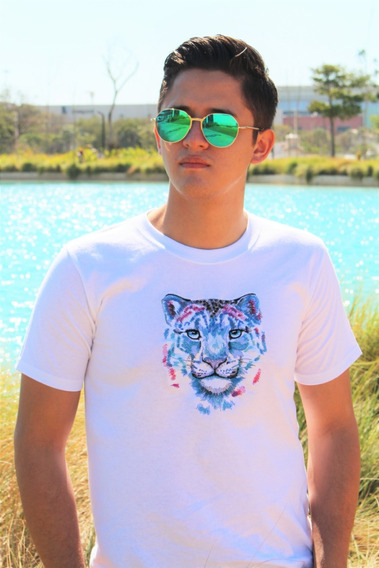 Playera Bordada Leo