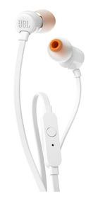 Fone De Ouvido Original Jbl T110 Branco In Ear By Harman