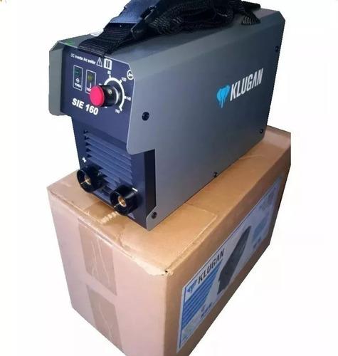 Soldadora Inverter Klugan Sie160 160a 1.6-4mm + Amoladora