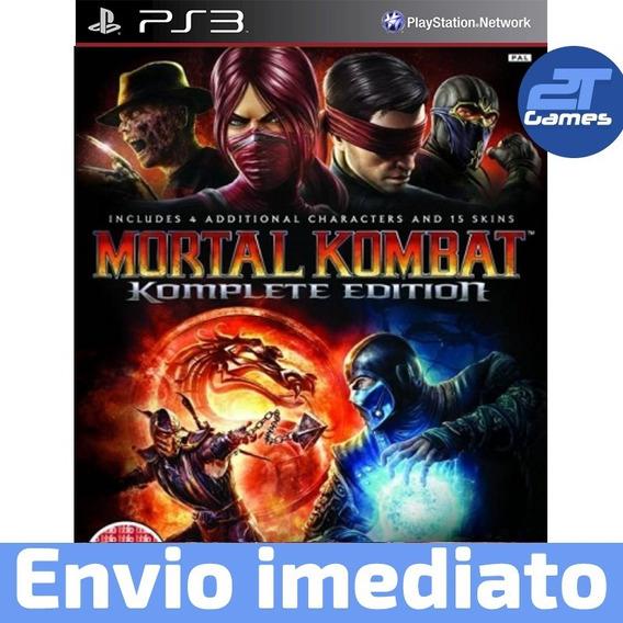Mortal Kombat Komplete Edition Ps3 Psn Leg Br Envio Rápido