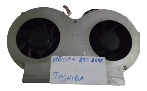 Fan Cooler Doble Para Notebook Toshiba Satellite A35