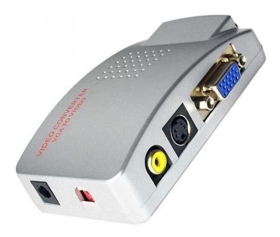 Conversor De Vídeo Rca S-vídeo To Vga Tv Av Ps2 To Monitor