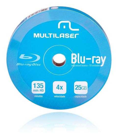 Blu-ray Multilaser 6x 25gb Printable 50 Unidades Dv057