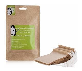 Miaomiao Miaomiao Unbleached Tea Filter Bags,