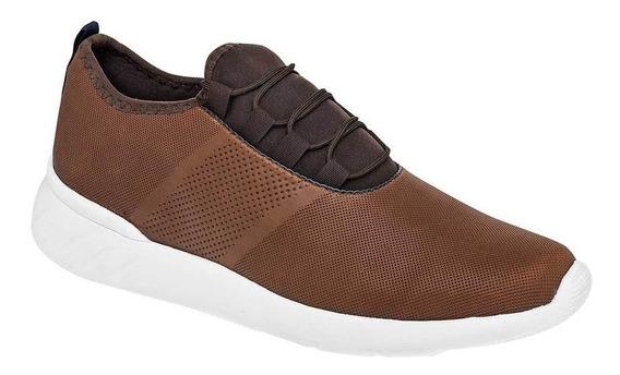 Zapato Tenis Urbano Caballero Negro Total 5501 Cafe 25-29 S4