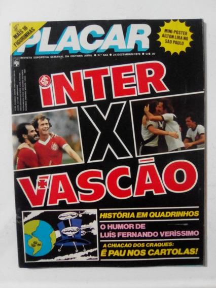 Revista Placar 504 Inter Vasco São Paulo Copersucar F7 1979