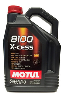 Aceite Motul 8100 Xcess 5w40 X5l + Envío + Cuotas