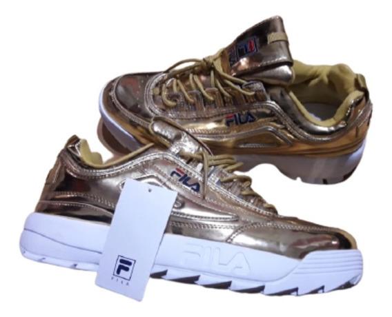 1998 fila zapatillas dorado